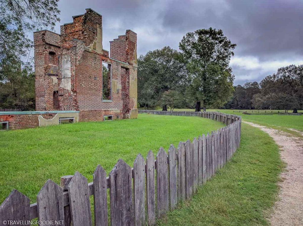Building Ruins at Historic Jamestowne in Jamestown, Virginia