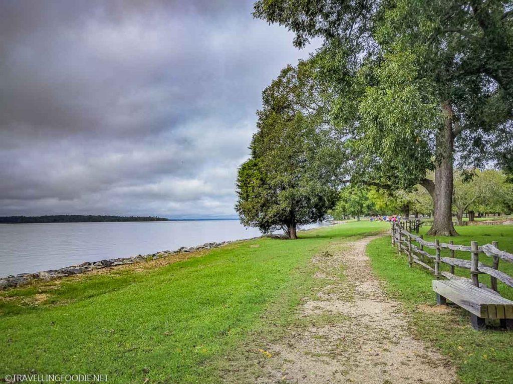 Pathway Bench at Historic Jamestowne in Jamestown, Virginia