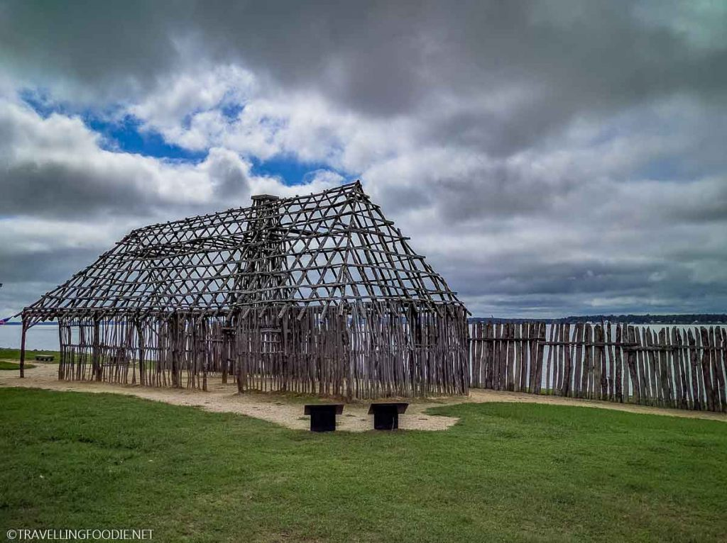 Skeleton of building at Historic Jamestowne in Jamestown, Virginia