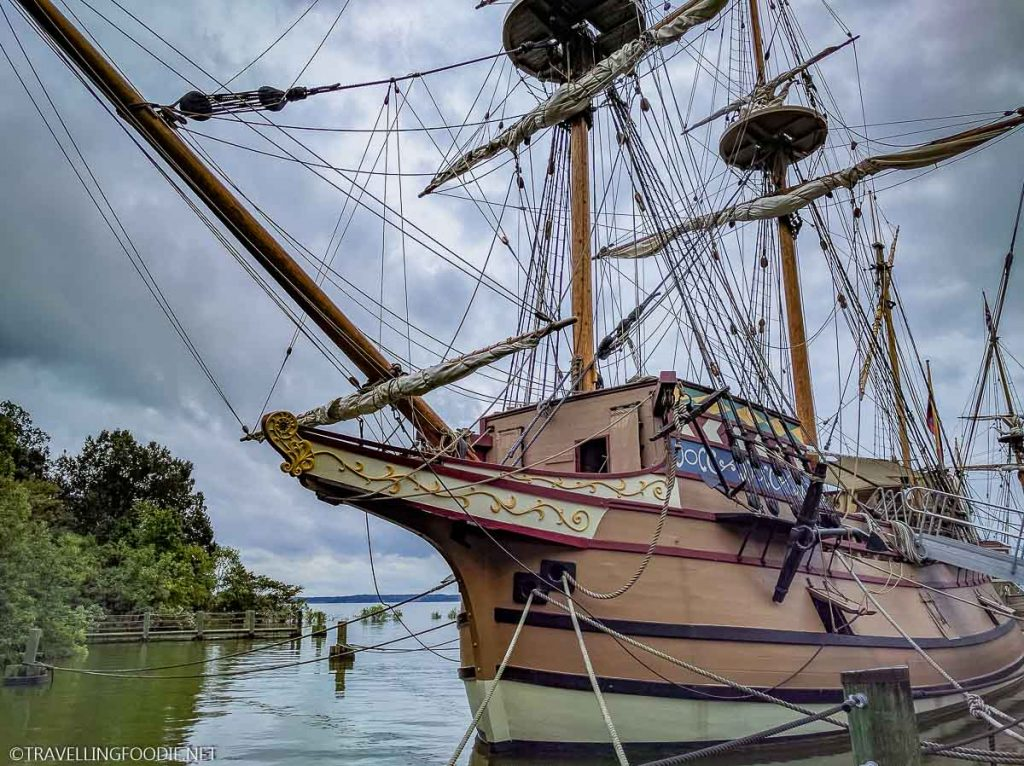 Godspeed Replica Sailing Ship at Jamestown Settlement in Virginia
