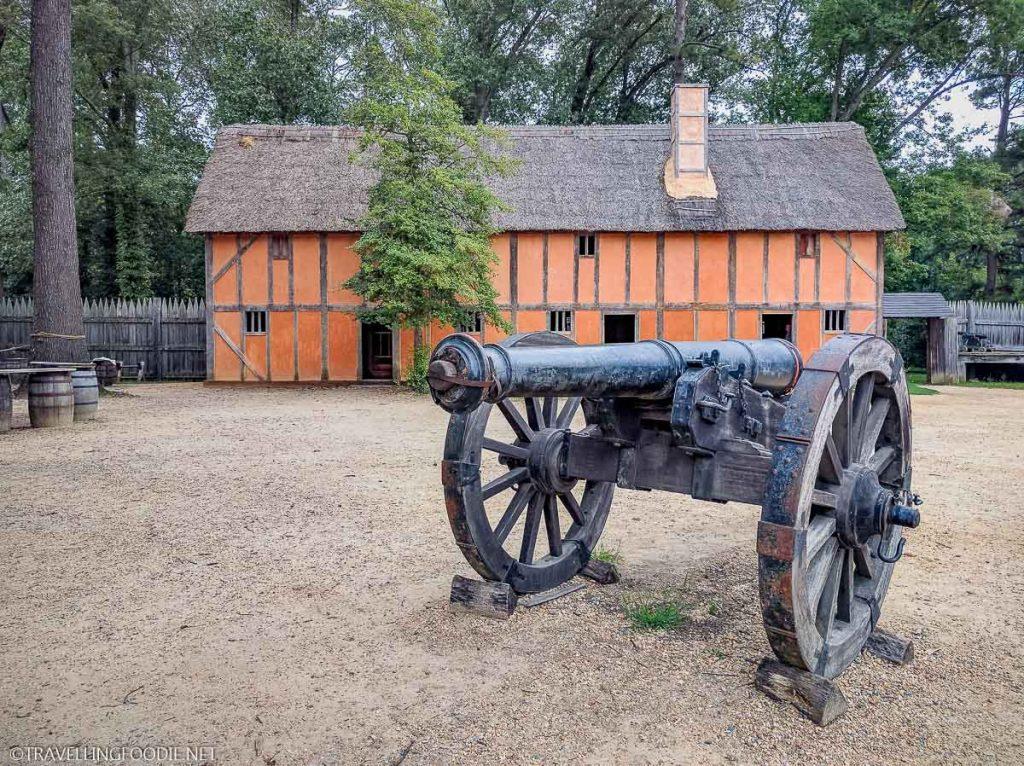Cannon at Jamestown Settlement in Virginia