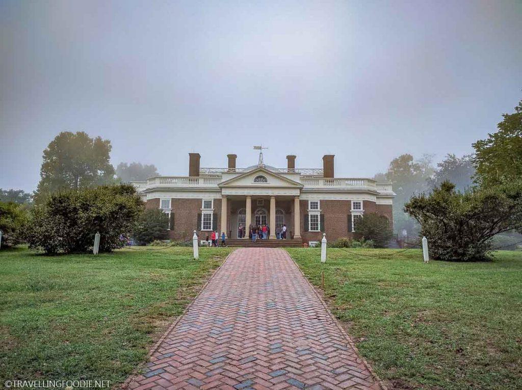 Thomas Jefferson's Monticello Estate in Charlottesville, Virginia