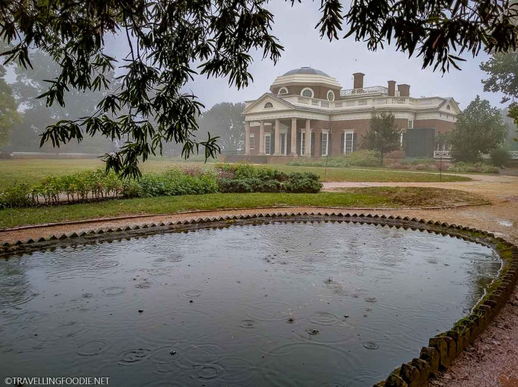 Monticello Reflecting Pool in Charlottesville, Virginia
