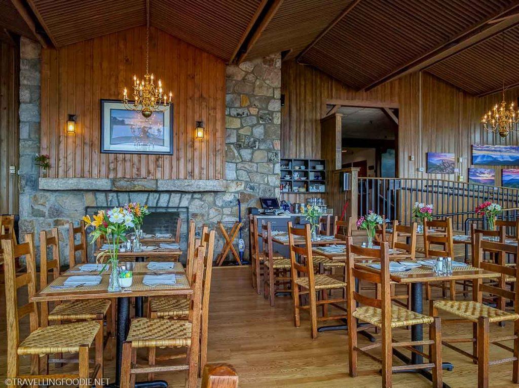 The Pollock Dining Room's Wooden Interior at Skyland in Shenandoah National Park in Luray, Virginia