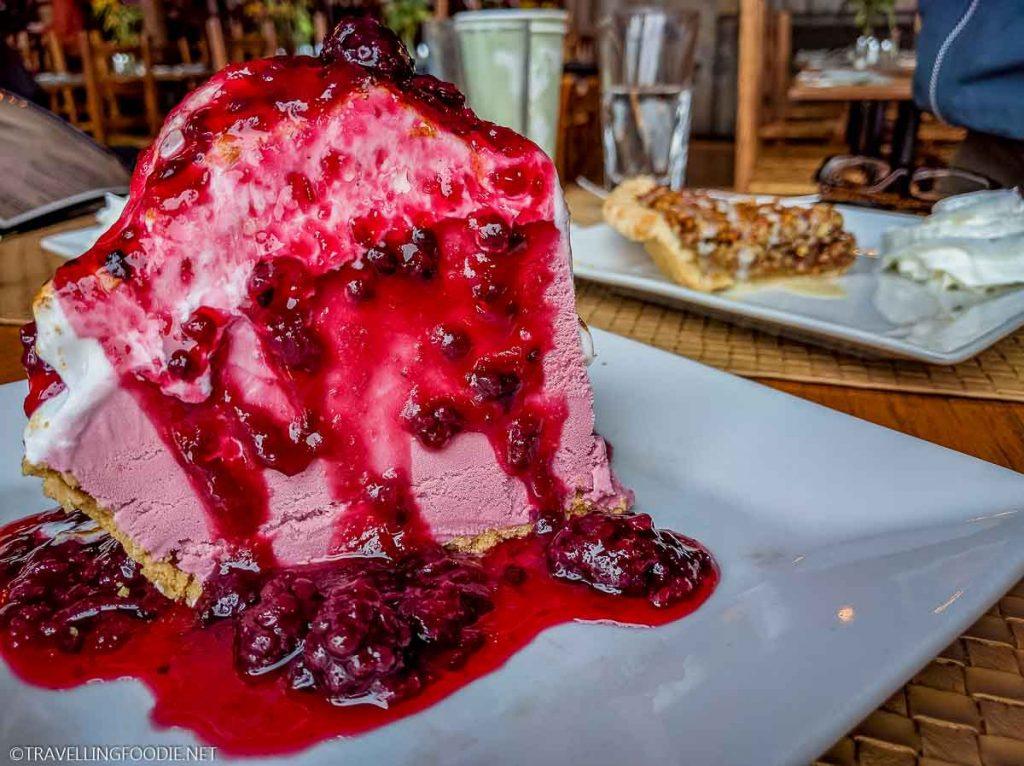 Blackberry Ice Cream Pie at Skyland's The Pollock Dining Room in Virginia
