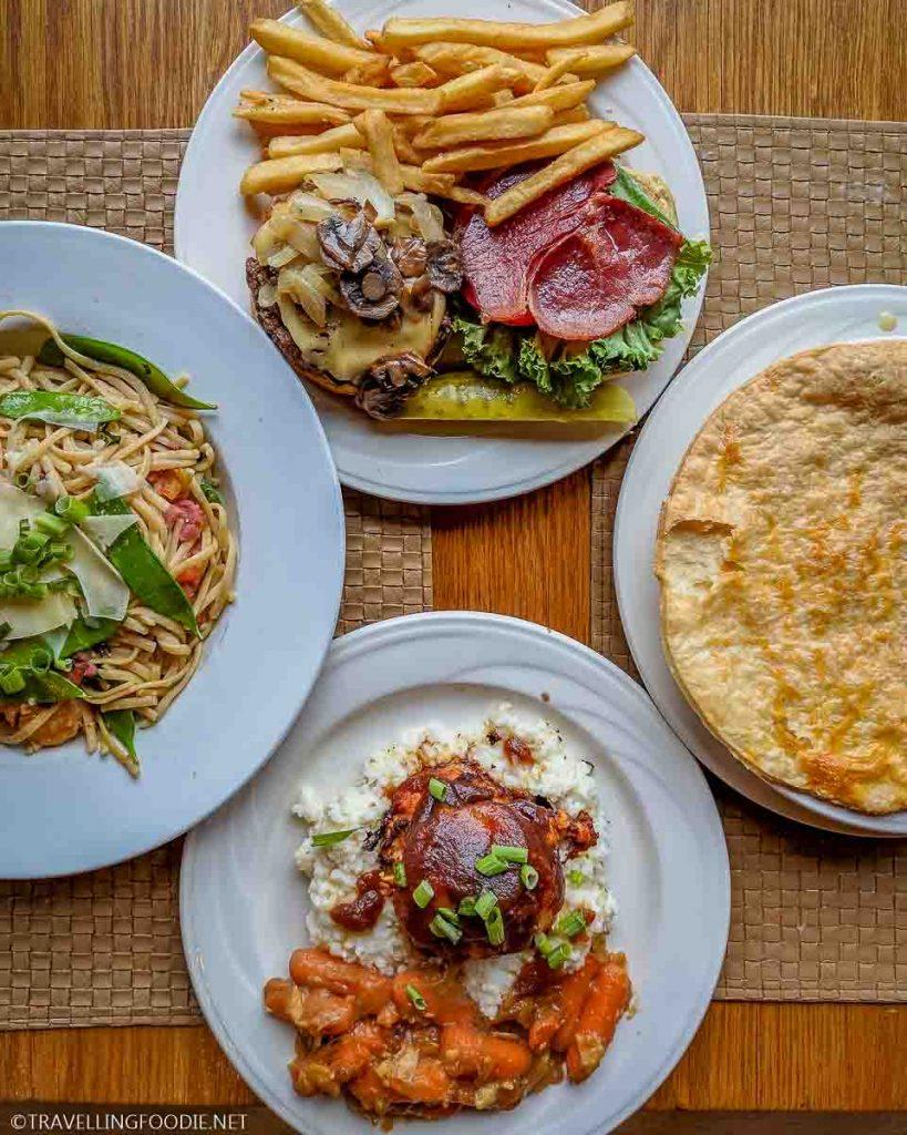Main Dishes at The Pollock Dining Room at Shenandoah National Park
