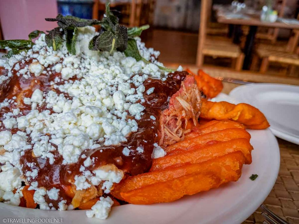 Sweet Potato Waffle Fries with Gravy at The Pollock Dining Room