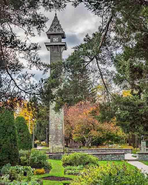 Brick Tower at the Shakespearean Gardens in Stratford, Ontario