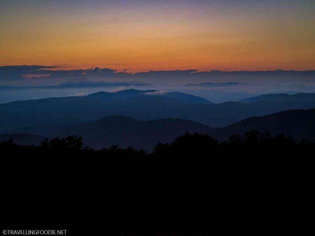 Golden Hour Silhouette at Shenandoah National Park, Virginia