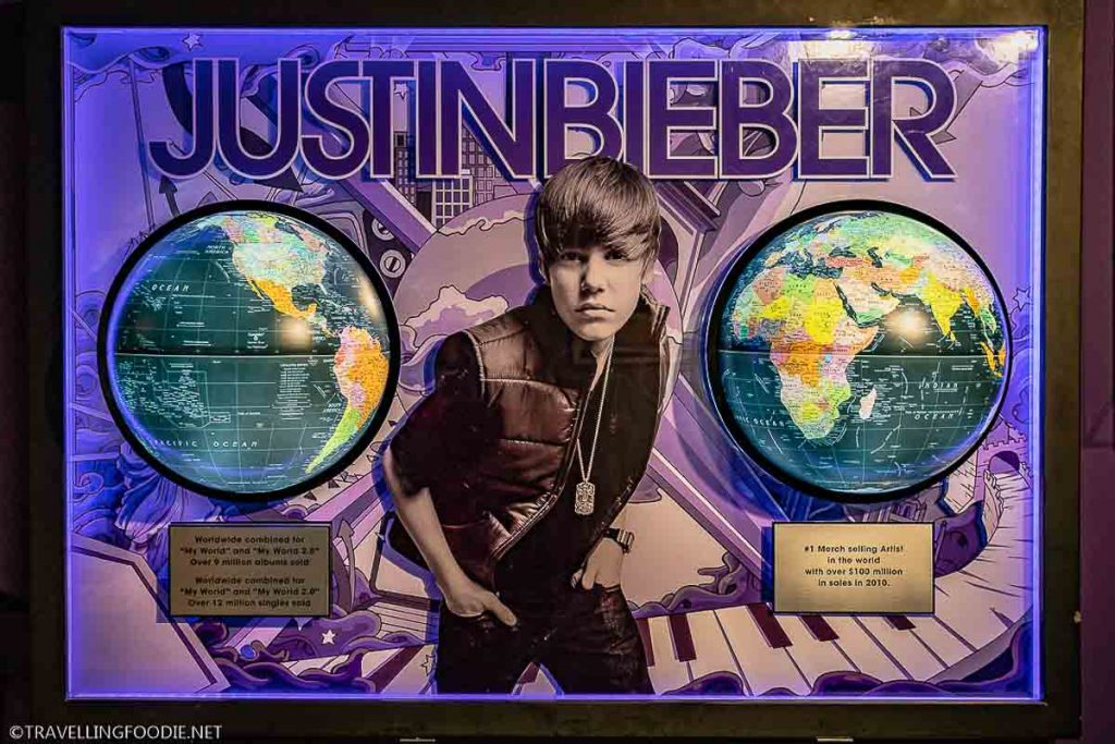 Justin Bieber Exhibit at Stratford Perth Museum in Stratford, Ontario