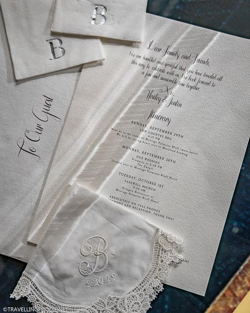 Justin and Hailey Bieber's Wedding Invitation at Stratford Perth Museum in Stratford, Ontario