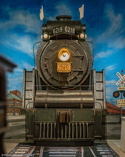 Old Railway Train at Stratford Perth Museum in Stratford, Ontario