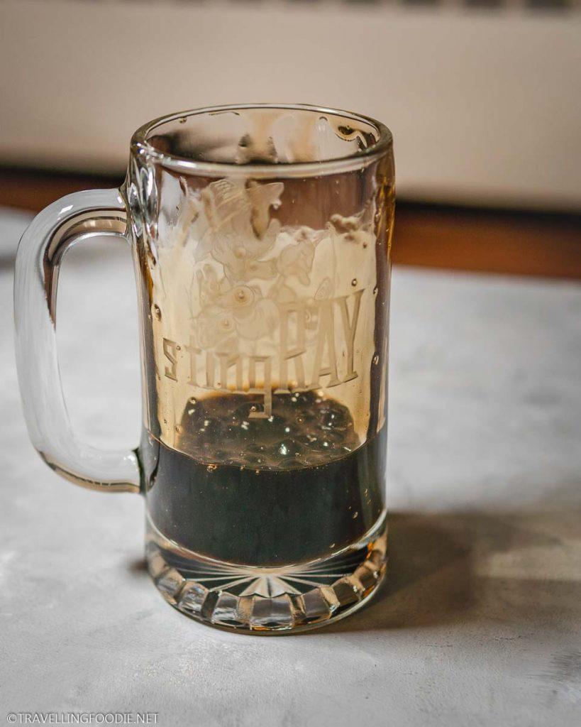 Mug with brown sugar boba