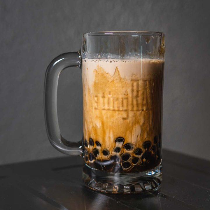 Brown Sugar Roasted Oolong Milk Tea with Tapioca