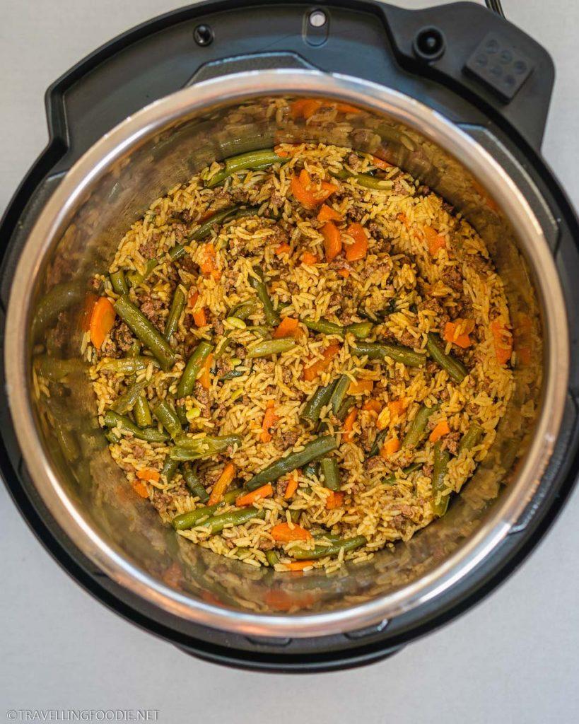 Beef Biryani cooked on Instant Pot Duo Crisp