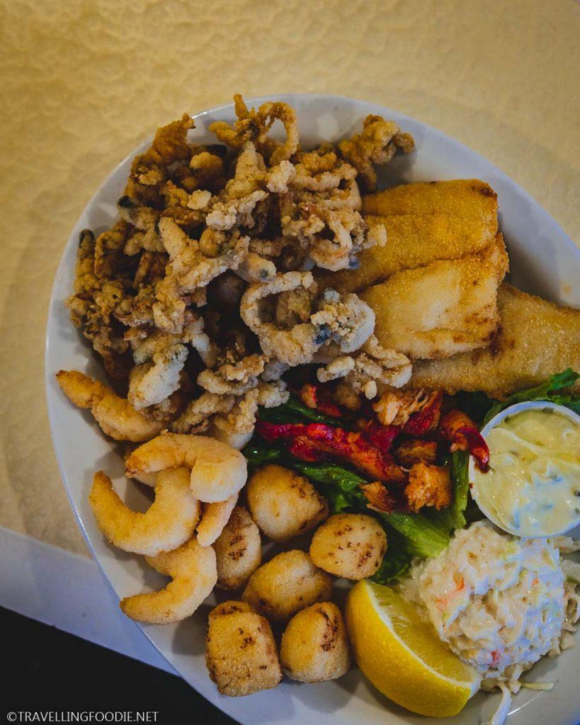 Seafood Platter at Blarney Stone in Hebbs Cross, Nova Scotia