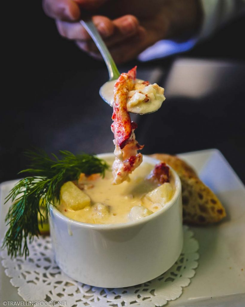 Seafood Chowder at The Kiwi Cafe in Chester, Nova Scotia