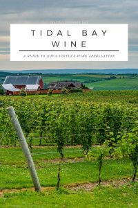 Tidal Bay Wine - A Guide To Nova Scotia's Wine Appellation - on travellingfoodie.net