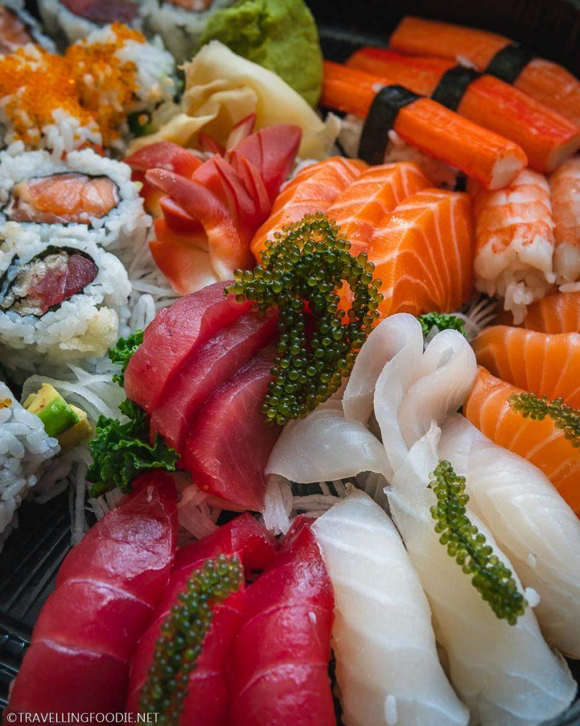 Sushi and Sashimi with Umibudo Seaweed