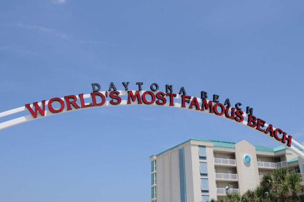 World's Most Famous Beach Sign in Daytona Beach, Florida