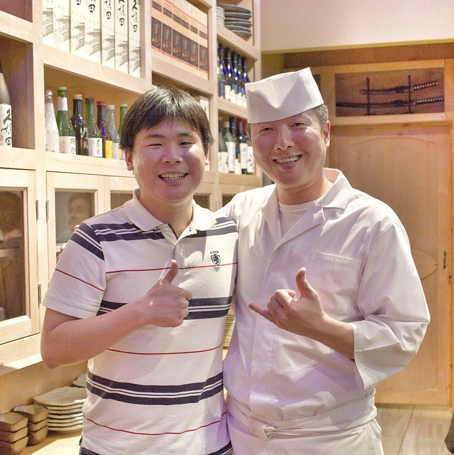 Travelling Foodie Raymond Cua with Chef Eric of Kame Omakase, Las Vegas