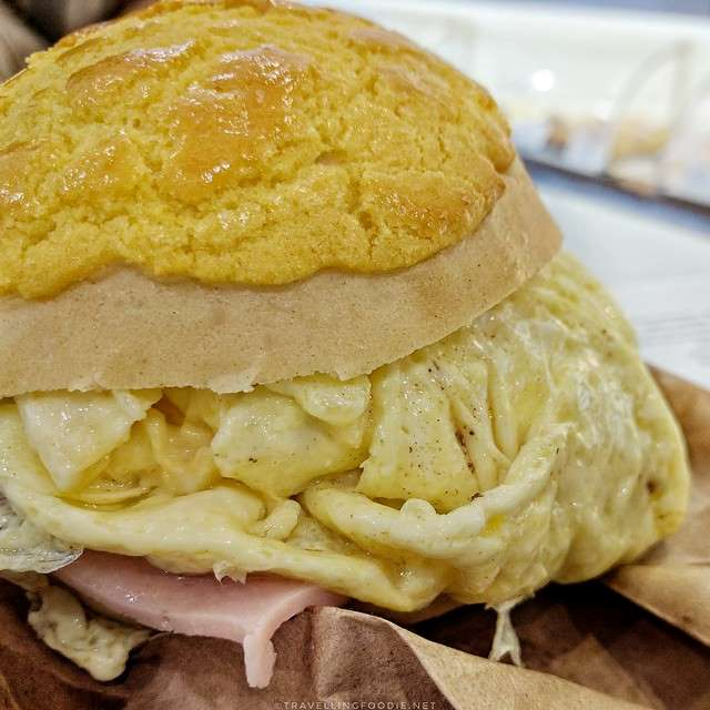 Ham and Egg Pineapple Bun at Cakeview Bakery and Café in Scarborough