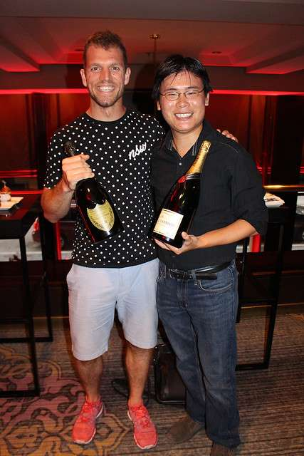 Chef Daniel Janetos with Travelling Foodie Raymond Cua at Consort Bar in Omni King Edward Hotel Toronto