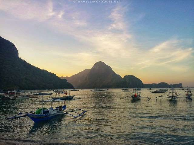 El Nido, Palawan Main Island during Sunset