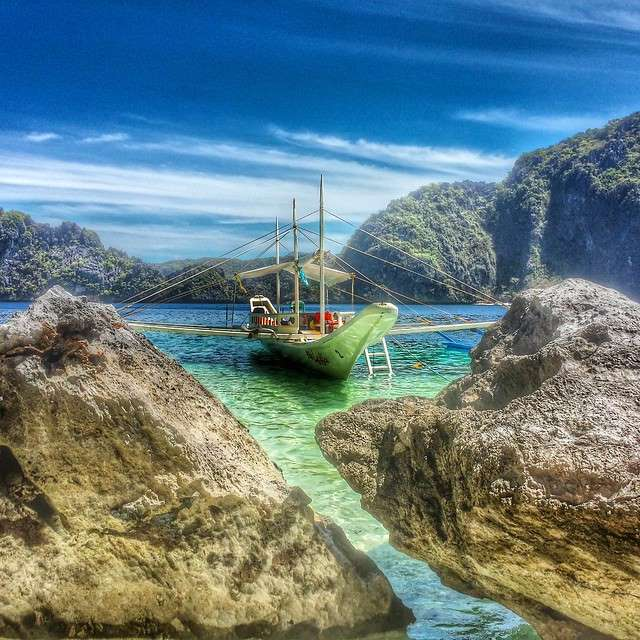 Bangka Boat at Tapiutan Island in El Nido, Palawan