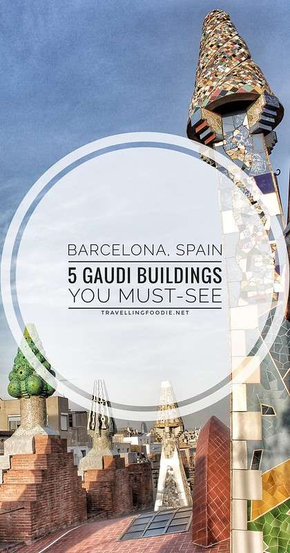 Must-See Gaudi Buildings in Barcelona, Spain: Best Gaudi Attractions with buildings like Sagrada Gamilia, Casa Mila, Park Guell, Palau Guell and Casa Batllo