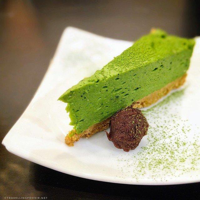 Uji Matcha Rare Cheesecake from Saryo Cafe in Toronto, Ontario