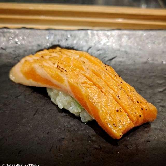 Seared Ocean Trout Sushi at Zen Japanese Restaurant in Markham