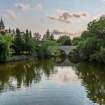 Avon River with Stone Arch Bridge in Stratford, Ontario