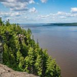 Top of Devil's Rock Hike in Temiskaming Shores, Ontario